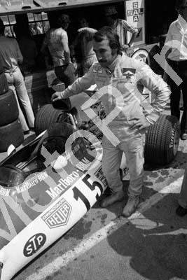 1973 SA GP Clay Regazzoni guards his BRM (permission Roger Swan) 117