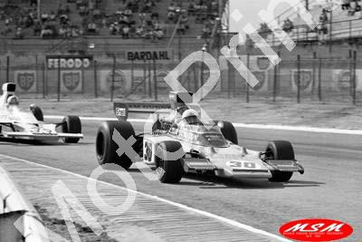 1974 SA GP 30 Paddy Driver Lotus 72-R7 in front of his mate Hailwood McLaren M23(permission Malcolm Sampson Motorsport Photography) (328) copy