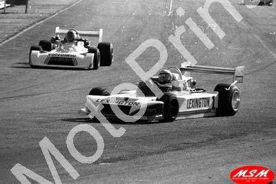 1979 Kya FA 1 Scheckter March 79B, Sarel Pienaar Chevron B29 - blemishes removed on full size image (courtesy Malcolm Sampson Motor Sport Photography)