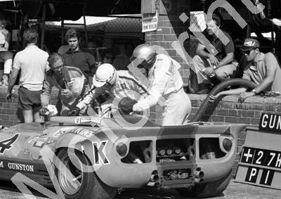 1968 4 pit stop A4 size scan Ferrari P4 CanAm Paul Hawkins John Love, Eddie Pinto on pit counter (courtesy Ken Stewart)(1)