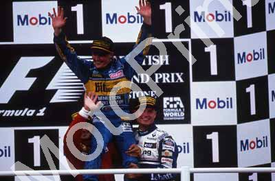 1995 British GP podium Alesi, Herbert, Coulthard 022
