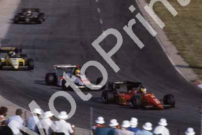 0 group Alboreto, Senna (noseless) Tambay (courtesy Roger Swan)619