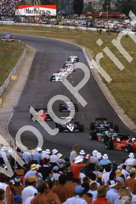 0 group Arnoux, Cheever, Hesnault, Bellof, Baldi, Brundle, Palmer, Surer, Cecotto, Boutsen, Alliot (courtesy Roger Swan) 991