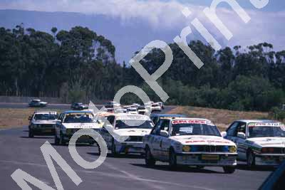 1988 6 hr 1 start 4 Lanz, P O'Sullivan 3 Gibb, Atkinson 6 Oosthuizen Bianco all BMW 325i (courtesy Roger Swan) (151)