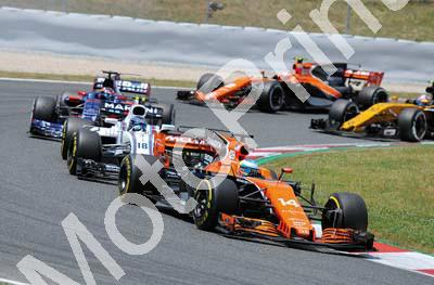2017 Spanish GP 14 Alonso McLaren 18 Stroll Williams image approx 1181x810pixels (courtesy Paolo D'Alessio) (119)