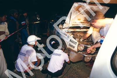 1987 Safari 8 Kenneth Eriksson Golf GTi night service (courtesy Roger Swan) (199)