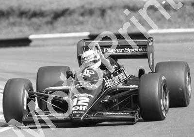 1985 Brands European GP 12 Ayrton Senna Lotus Renault 97T (Colin Watling Photographic) (155)