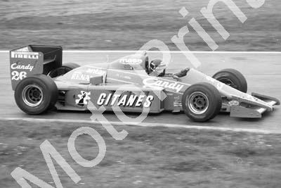 1985 Brands European GP 26 Jacques Laffite Ligier Renault JS25 (Colin Watling Photographic) (224)