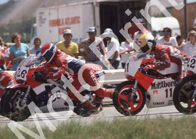 1985 Kya MC 26 Rob Petersen Honda 11 Russell Wood Yamaha TZ250 (Colin Watling Photographic) 322 (48) - Copy