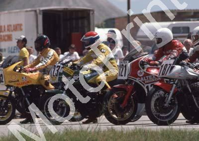 1985 Kya MC 187 Wayne Heasman Suzuki 121 Alistair Janczuk Honda 123 Glenn Williams Kawasaki (Colin Watling Photographic) 322 (42) - Copy