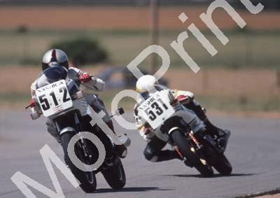 1985 Welkom MC 512 Sean Brummer Kawasaki ZX550 531 Dave Petersen Ducati 550 (Colin Watling Photographic) 322 (12)