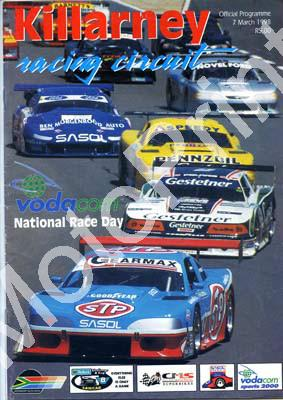 1998 March Killarney Cover, entries FF, Wesbank V8, S2000, Super cars, SBK, Shell MC, Classic cars, regional saloon cars.001