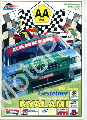 1997 Kya June Gestetner articles AA steps up bid to secure GP, AA Kyalami to close Never; entries Bankfin, WEsbank mod, GTi, FF, FV, ALR mc, Super sal