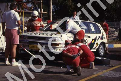 1992 Killarney 9 hr C18 Mike White Serge Damseaux Toyot Conquest RSi pits (courtesy Roger Swan) (1)