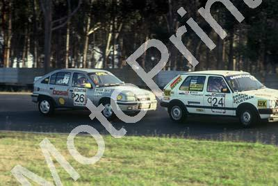 1992 Killarney 9 hr C24 Marthinus Briers Sagren Nair Richard Vlietman Golf GTI D26 Watson-Smith Gilmour Opel GSi(Swan) (1)