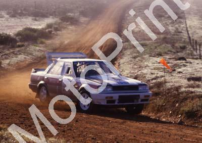 1988 Nissan Intnl 1 Hannes Grobler, Piet Swanepoel Skyline 4WD (courtesy Roger Swan) (1)