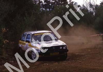 1988 Nissan Intnl 9 Glyn Hall, Martin Botha VW Golf 16V (courtesy Roger Swan) (7)