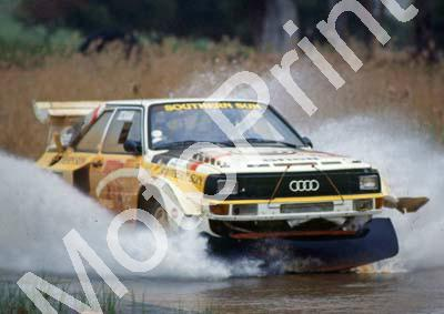 1988 Toyota Dealer Rally 1 Sarel vd Merwe, Franz Boshoff Audi Quattro. Photo NOT PIN SHARP THE CAR NOT AT ALL ANYMORE (Colin Watling Photographic) (6
