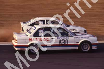 1991 Kya May Stannic A30 Hannes Oosthuizen BMW 325iS on , John Craig Opel off (R Swan)