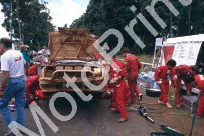 1990 Safari 67 Carlos Sainz, Luis Moya Celica GT-4 at servive (courtesy Roger Swan) (86)
