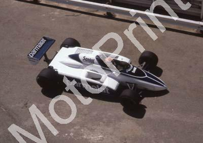 1982 SA GP 1 Nelson Piquet Brabham BT50-03 pre-race note no car number (Colin Watling Photographic) (45)
