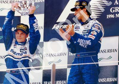 1996 Australian Jacque Villeneuve, 2nd; Damon Hill Williams FW17 1st FW18