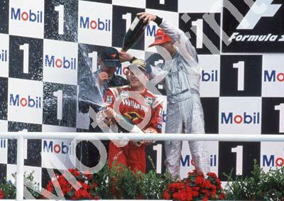 1998 German GP Jacques Villeneuve, Williams FW20 3rd, Mika Hakkinen 1st, David Coulthard 2nd (30)