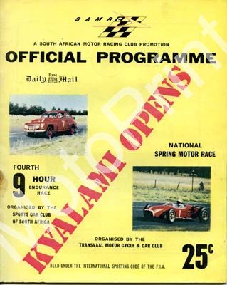 1961 9 hr; digital scans entry list, car descriptions at digital price only