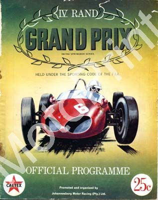 1961 Rand GP; digital scans cover and all entry lists at digital price only