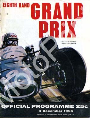1965 Rand GP; digital scans cover, entry lists, sold digital format and price only