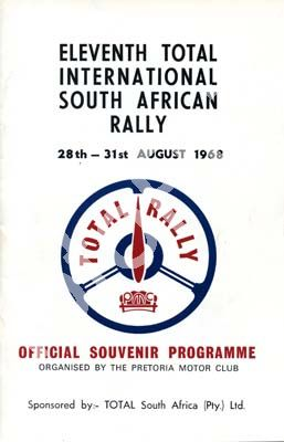 1968 Eleventh Total Rally; digital scans cover, entry list, sold digital format and price only (+pics committee, cars)