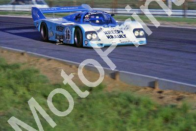 (thanks to Stuart Falconer) a 895 83 Castrol 1000 practice Porsche 956 Kreepy Krauly S vd Merwe Duxbury, T Martin note body damage