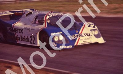 (thanks to Stuart Falconer) a 898 1983 Castrol 1000 practice Kremer Porsche CK5 Pamatex G Fouche, Kroesemeijer Conrad NOT PIN SHARP