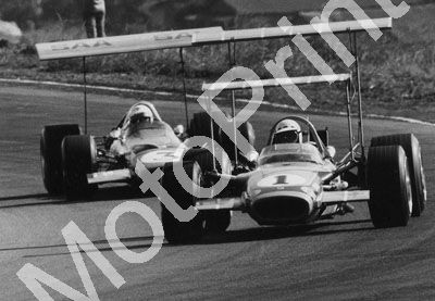1969 (thanks Roger Pearce) John Love Lotus 49; Basil van Rooyen McL M7a double wings (116)
