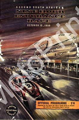1959 9 Hour digital scans of cover, entry list at digital price