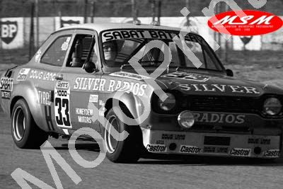 (permission Malcolm Sampson Motorsport Photography) 1976 Wynns 1000 33 Escort 1100 Flowers Rowlings (30) LOGO NOT ON PHOTO SOLD