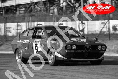 (permission Malcolm Sampson Motorsport Photography) 1976 Wynns 1000 9 Alfetta GT Merzario Dini(26) LOGO NOT ON PHOTO SOLD
