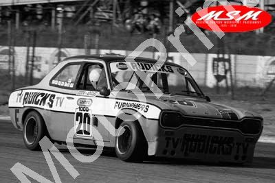 (permission Malcolm Sampson Motorsport Photography) 1976 Wynns 1000 20 Escort 1600GT Cook Adams (3) LOGO NOT ON PHOTO SOLD
