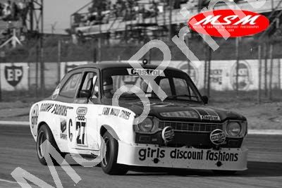 (permission Malcolm Sampson Motorsport Photography) 1976 Wynns 1000 27 Escort Clay Lindeque (23) LOGO NOT ON PHOTO SOLD