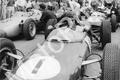 1961 SA GP EL Clark, Taylor in later Lederle, Scribante car, Bonnier, Maggs, Menzler (courtesy Lionel Rowe)
