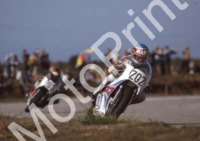 1983 Aldo 202 Mario Rademeyer 203 Jimmy Rodger Yamaha TZ250s (Colin Watling Photographic) (8)