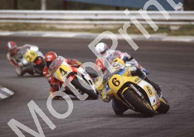 1983 SA GP 500 6 Randy Mamola Suzuki 4 Kenny Roberts Yamaha (Colin Watling Photographic) (10)