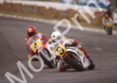 1983 SA GP 500 9 Ron Haslam Honda 4 Kenny Roberts Yamaha (Colin Watling Photographic) (3)
