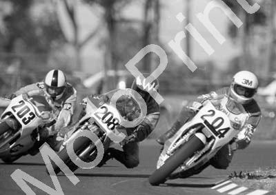 1984 Killarney MC 204 Kevin Hellyer Yamaha 208 Warren Bristol Yamaha 203 Len di Bon Yamaha (Colin Watling Photographic) (62)