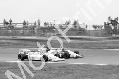 1985 Silverstone F3000 3 Michel Ferte 8 Christian Danner March 85B (Colin Watling Photographic) (46)