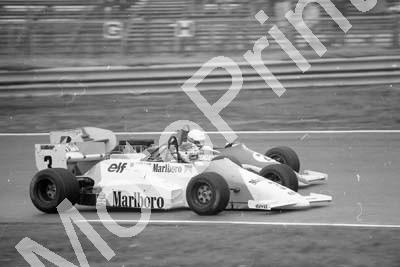 1985 Silverstone F3000 3 Michel Ferte March 85B 2 John Nielsen Ralt RT20 (Colin Watling Photographic) (77)