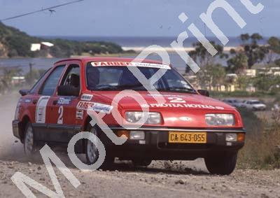 1988 Stannic Cape Gp N rally 2 Vic Procter, Ken Botwood Sierra (Colin Watling Photographic) (31)