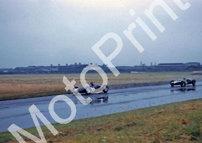 British GP Graham Hill BRM Climax and Brabham Cooper Climax T53